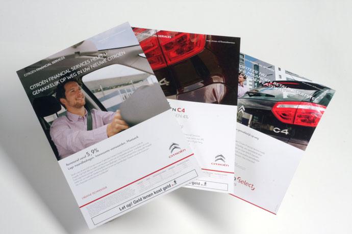 Citroën Financial Services, Marcom middelen