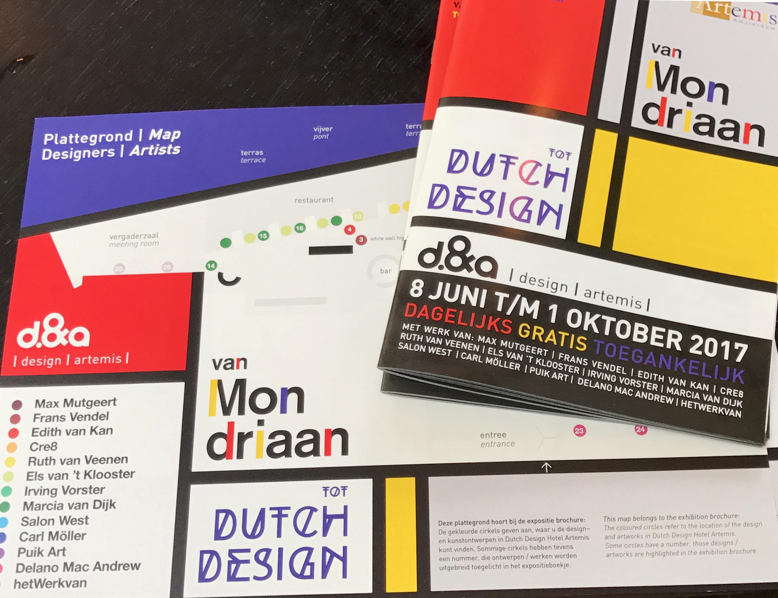 'Van Mondriaan tot Dutch Design' Expo, Dutch Design Hotel: Concept & design