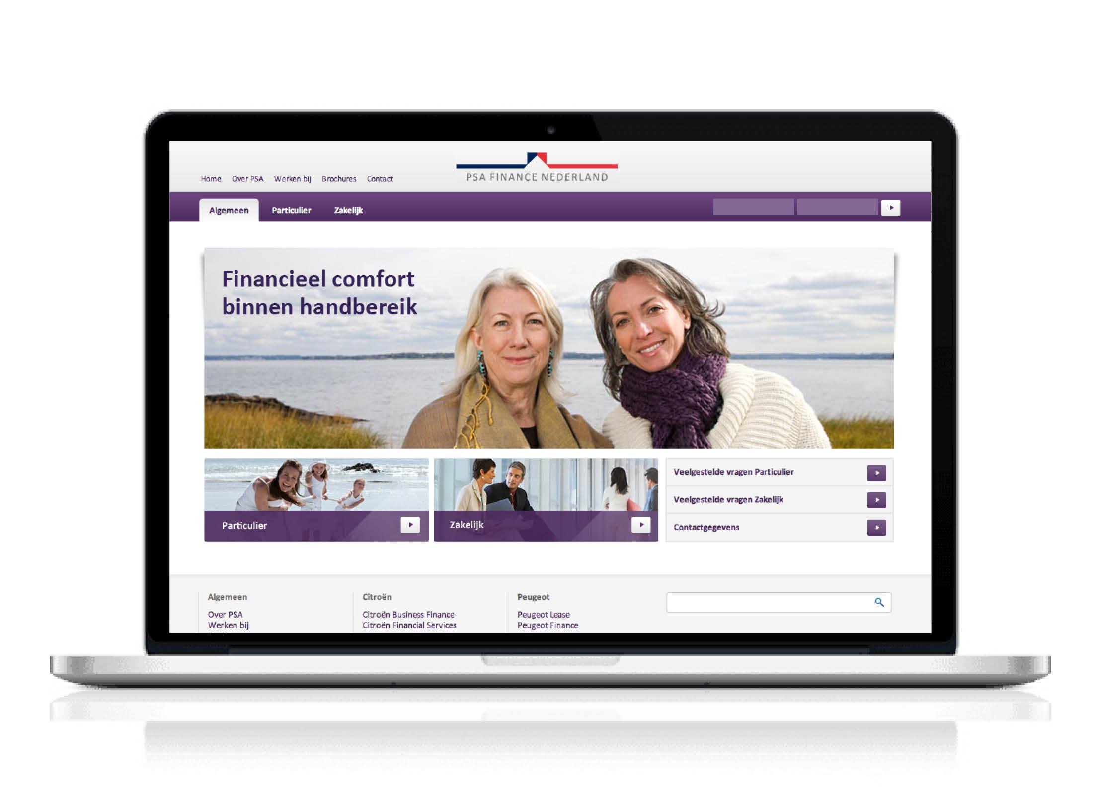 PSA Finance Nederland, Website beeldconcept