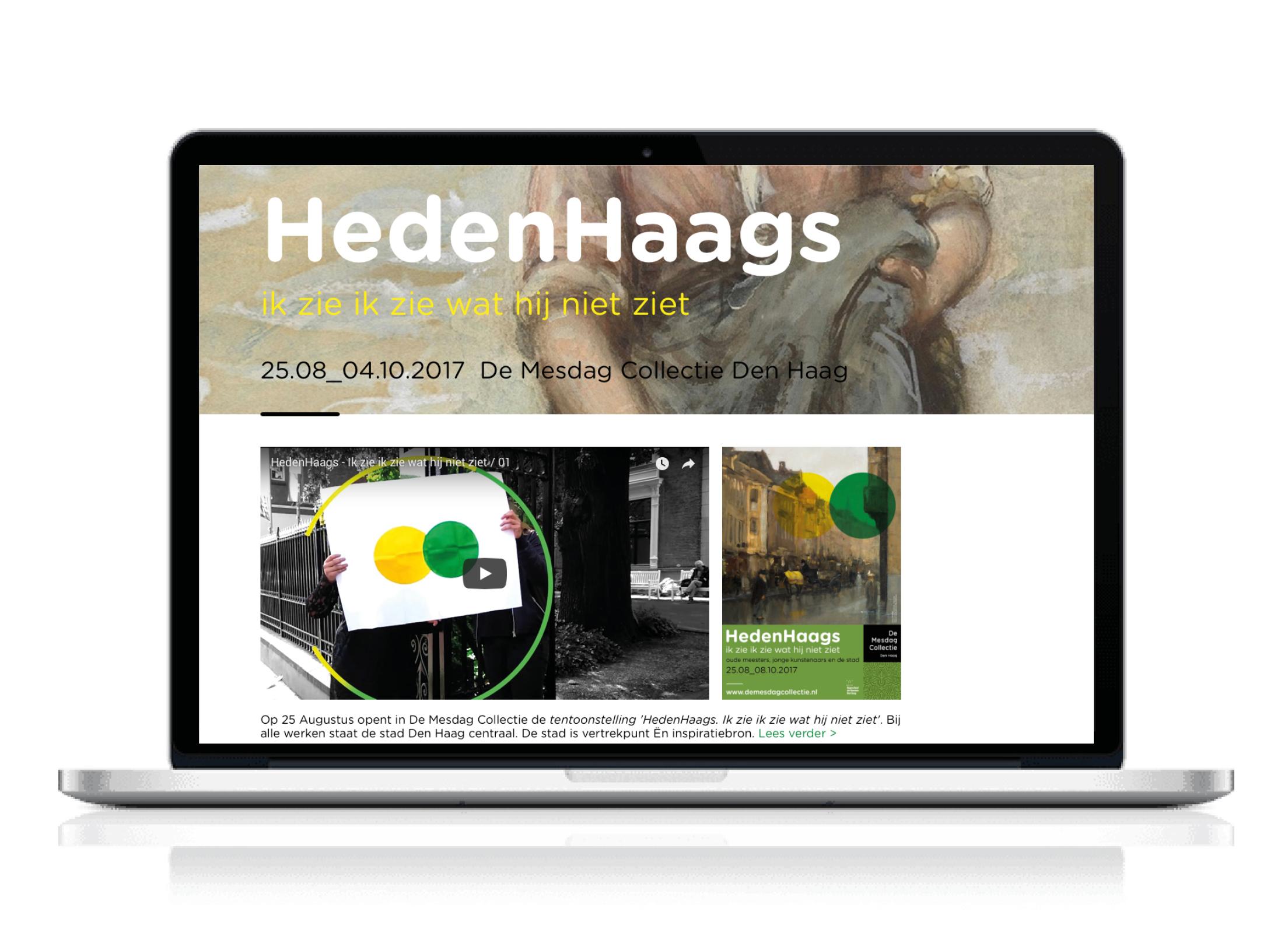 'HedenHaags, ik zie ik zie wat hij niet ziet' in de Mesdag Collectie: Tentoonstelling 2D & PR-Communicatie
