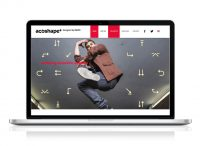 Acoshape+: Design brand identity en brochure