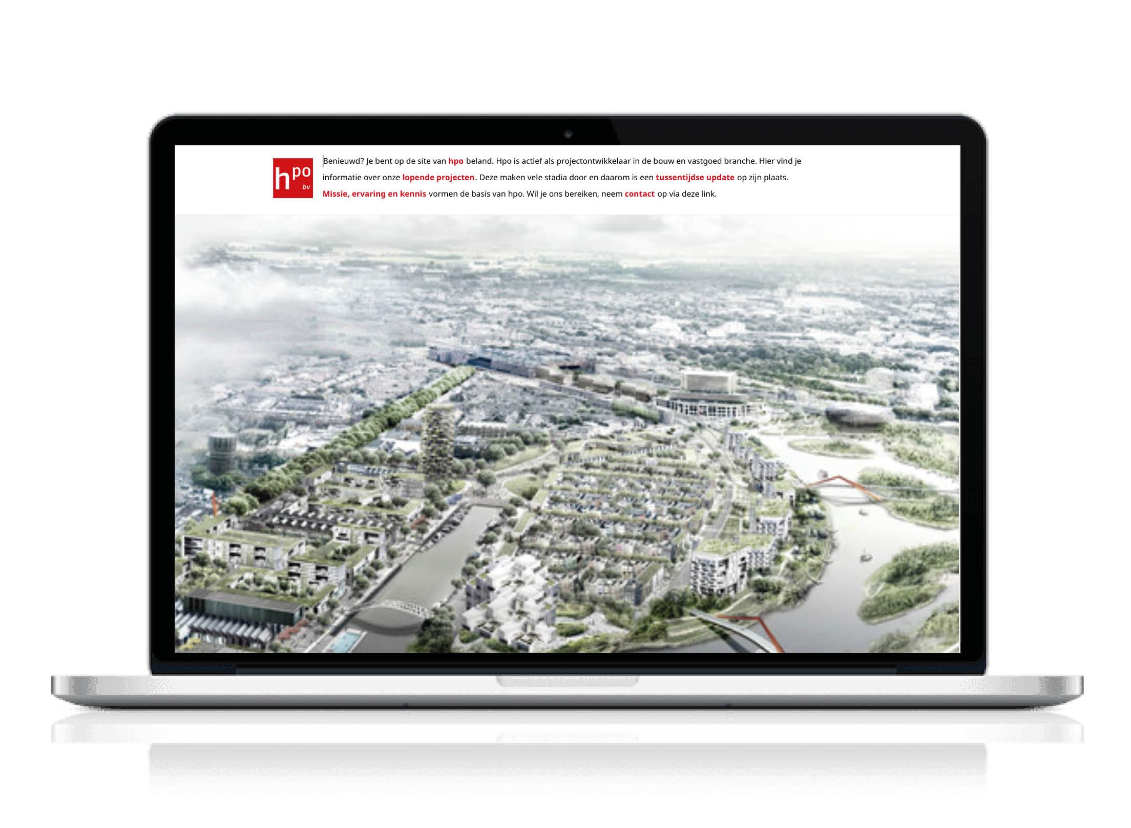 HPO bv Projectontwikkeling: Corporate Identity & webontwerp